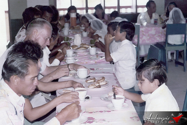 San Pedro students receiving their communion