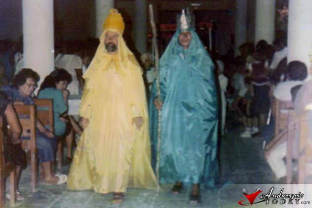 Las Posadas re-enactment at the RC Church
