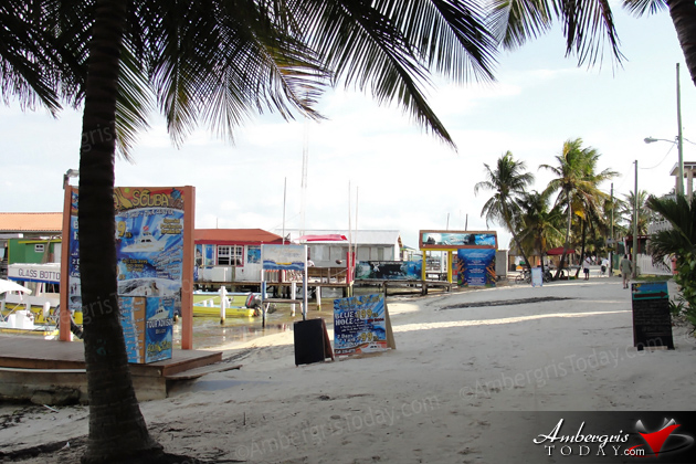 San Pedro Beach -Facing Estel's, Spindrift Hotel, Tackle Box and Holiday Hotel