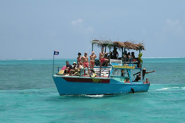 Conference Call Aboard Ras Creek in Caye Caulker