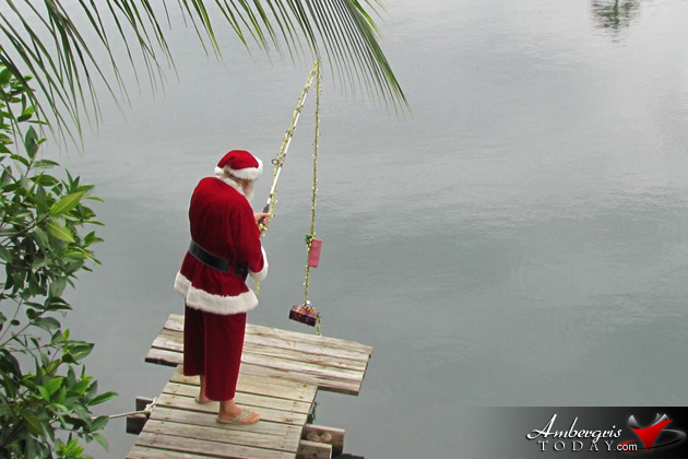 Santa in Belize