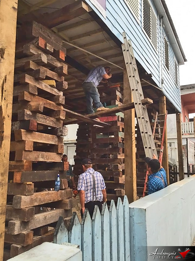 Mennonites of Belize Elevate homes to 2 storeys