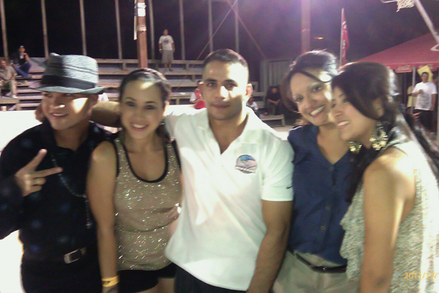 Mohamed Harmouch celebrates with his fans