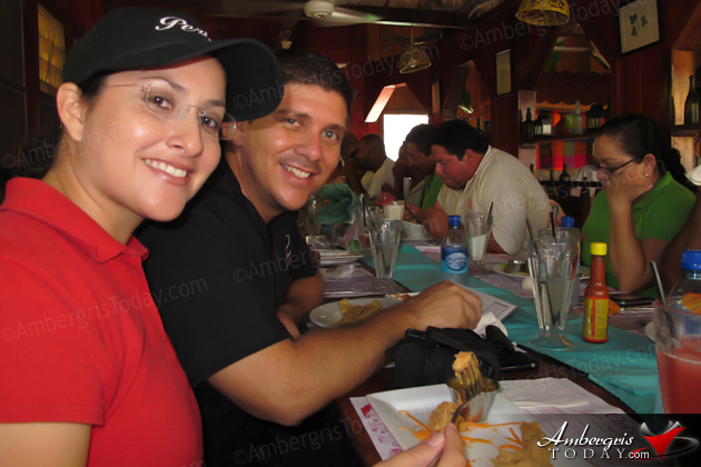 San Pedro Town Council Media Meeting -Perlita Zapata and Dorian Nunez of Ambergris Today