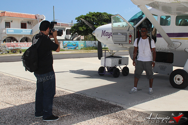 Kevin Lyttle Arrives to San Pedro, Ambergris Caye to perform for the International Costa Maya Festival. Photographed by Jose Luis Zapata, the official photographer of the International Costa Maya Festival