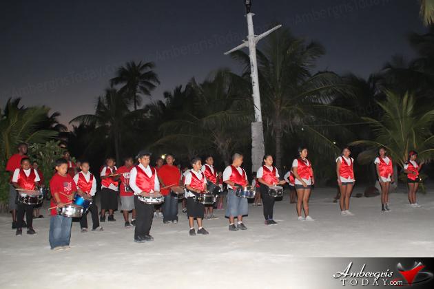 Isla Bonita All Star Marching Band Performs at Captain Morgan's