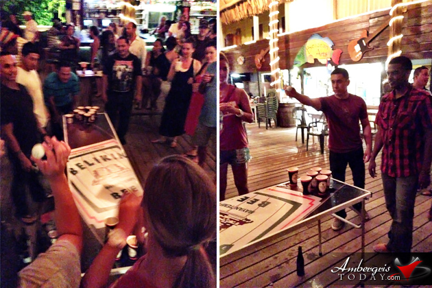 Belikin Beer Pong Competition at Fido's Restaurant & Bar