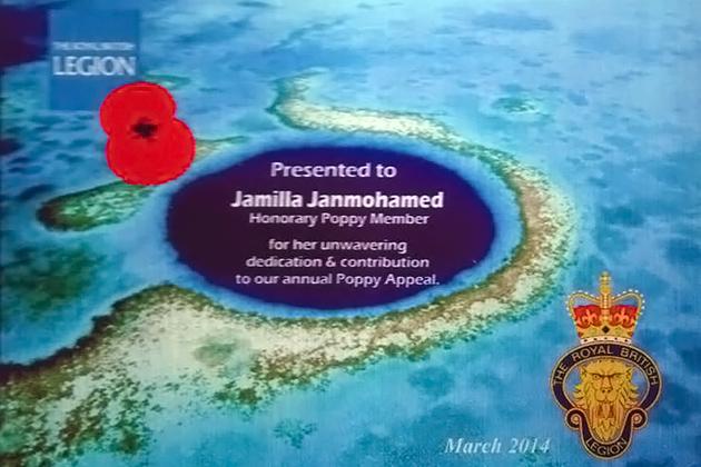 Jamila Janmohamed Awarded for Fundraising Efforts
