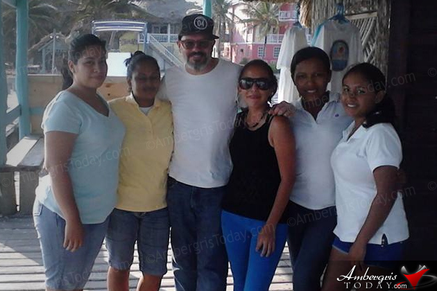 Celebrity Couple David Cross and Amber Rose Tamblyn visit Ambergris Caye, Belize