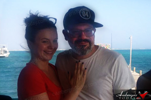 David Cross in Ambergris Caye, Belize