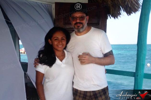 David Cross in Ambergris Caye, Belize