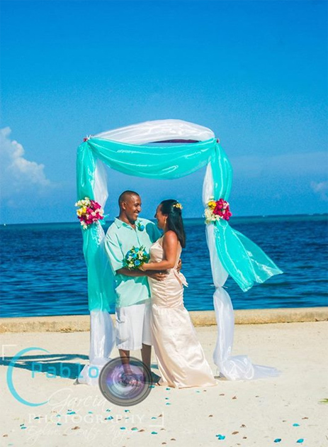 White Heredia Island Nuptials