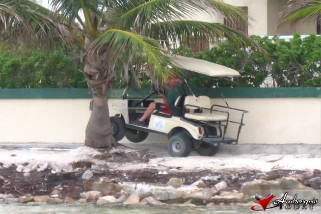 Golf Cart Stuck on Beach