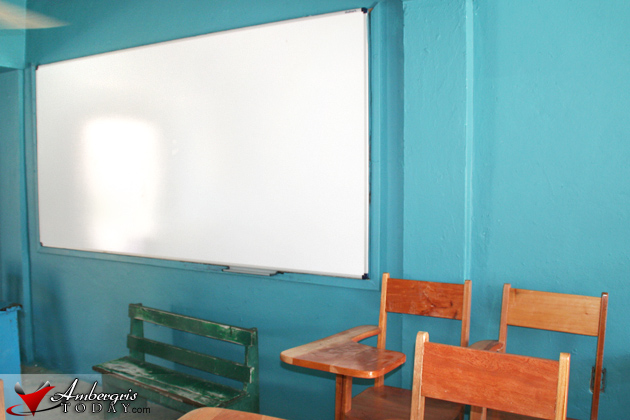 New Whiteboards at San Pedro RC School - Adpot-a-whiteboard Campaign.