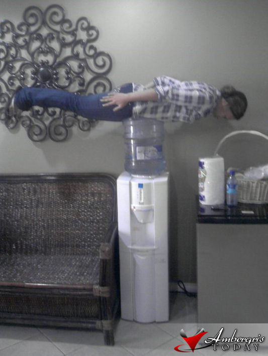 Water cooler planking