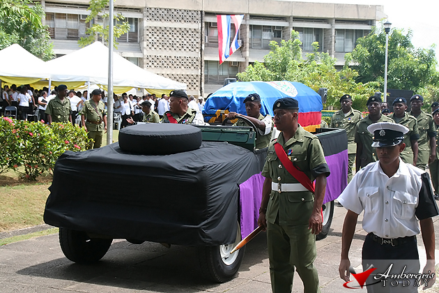 Belize Defence Force at the funeral of Honorable George Cadle Price