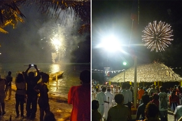 Roni Weiss pics of San Pedro Fireworks, Belize Independence Day