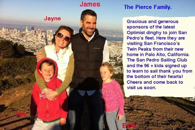 Pierce Family donates to San Pedro Sailing Club