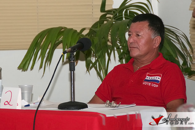 Manuel Heredia Area Rep Candidate for the United Democratic Party