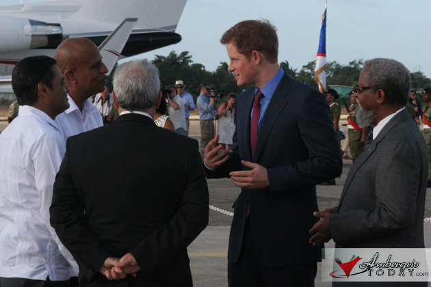 "Prince Harry ""Gets Down"" In Belize"