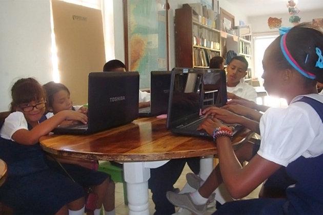 San Pedro Library Donation
