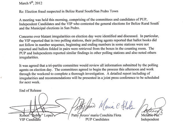 election fraud suspected in belize rural south  san pedro San Pedro Fish Market wiring works san pedro ca