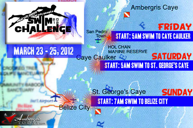 Swim Map for Healthy Reefs, Healthy People Swim Challenge 2012