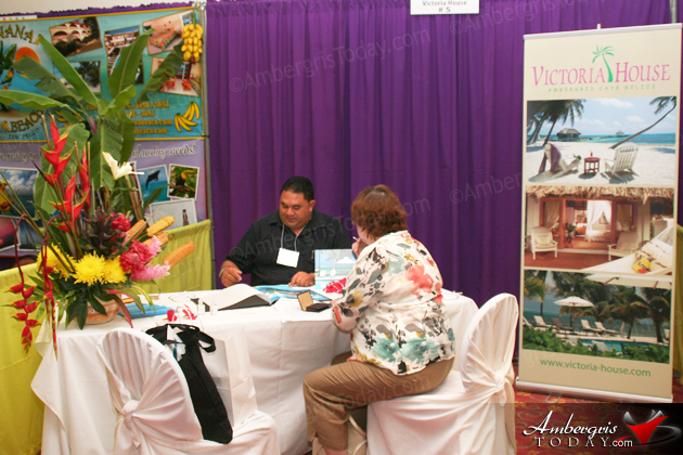 Victoria House Booth at the Belize Tourism Expo 2012 -BETEX Trade Show