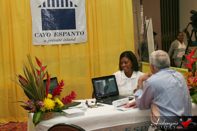 Cayo Espanto Booth at the Belize Tourism Expo 2012 (BETEX) Trade Show