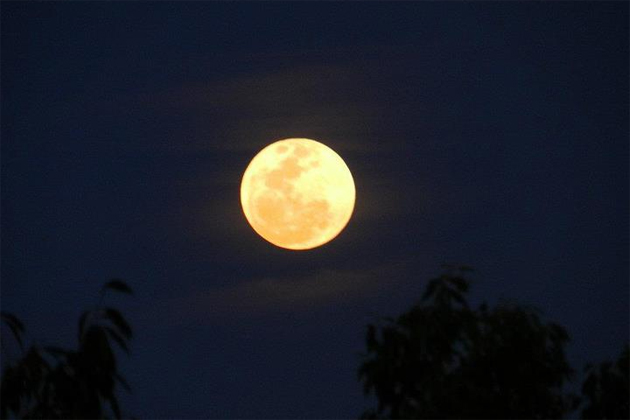 Super Moon over Ambergris Caye, Belize