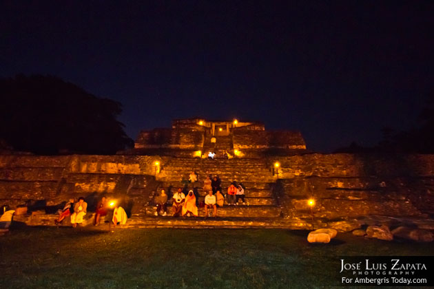 Maya Spring Equinox at Caracol Maya Site, Belize