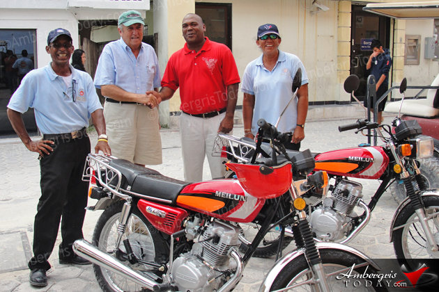 Traffic Department Receives Motorcycle Donation