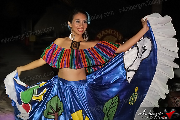 Miss El Salvador's Cultural Dress at the International Costa Maya Festival -Noche Tropical at Ramon's Village