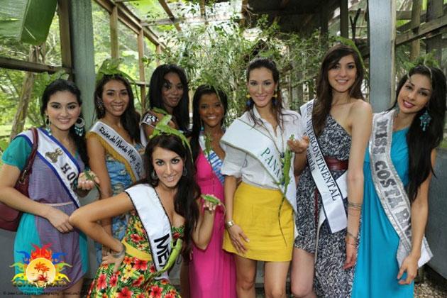 Costa Maya Pageant Delegates enjoy Belize