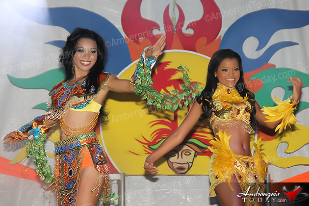 International Costa Maya Festival -Reina De La Costa Maya Pageant. Miss Belize and Miss Nicaragua