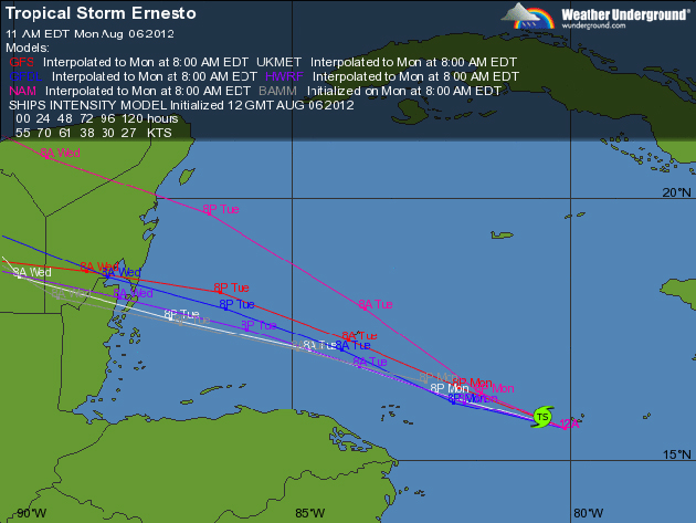 Ernesto Nearing Hurricane Strength, Warnings Issued for Belize