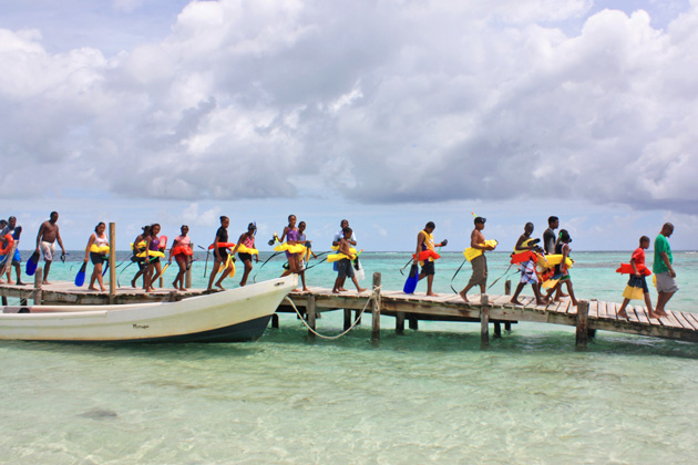 Children Enjoy Summer Camp Activity at Goff's Caye
