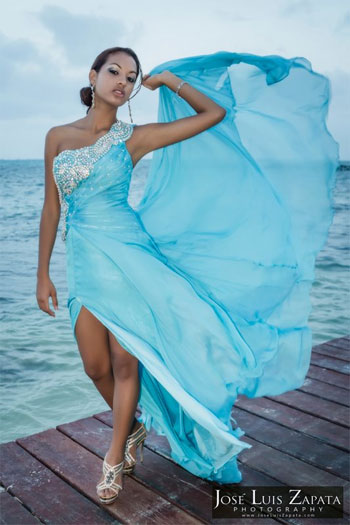 Behind the Scenes Video of photo shoot Miss Belize Continente Americano Chantae Chanice Guy