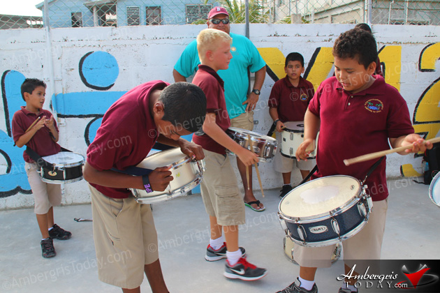 Nuñez Brothers Donate Their Drums to Isla Bonita Marching Band