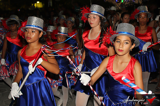 Belize's 31st Independence -San Pedro Dance Academy at the September Celebrations Block Party and Firework Display