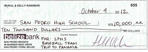 Family Business Chain Donates $10K to SPHS Baseball Team