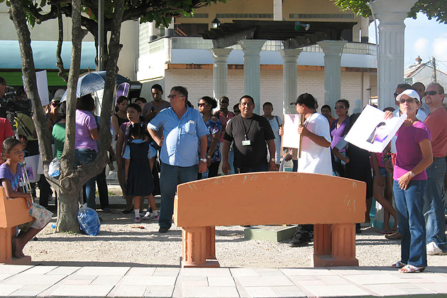 Twin Towns San Ignacio And Santa Elena Protest Against Crime