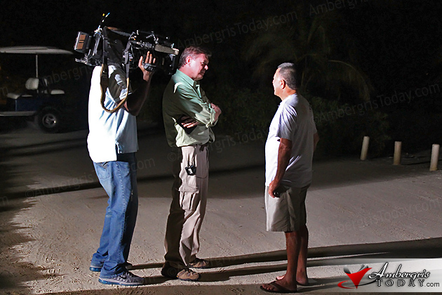 McAfee Media Frenzy Continues on Ambergris Caye, Belize