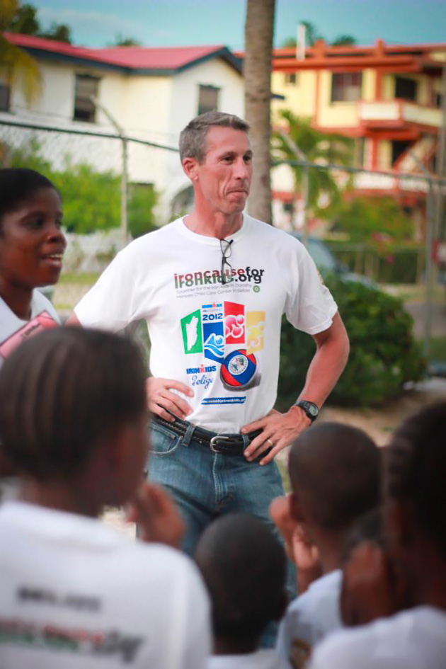 Jim Scott Completes Iron Man Challenge for Iron Kids Belize