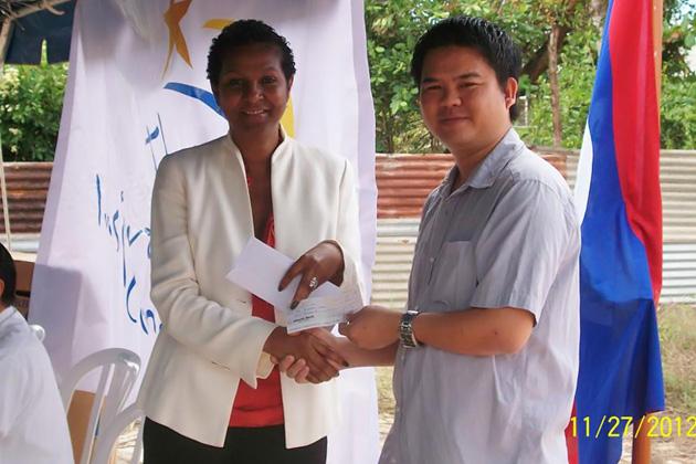 Mrs Suzette Tillett Human Resources Manager For Belize Telemedia Limited Presented Barrow