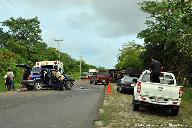 Accident on the Phillip Goldson Highway; several persons injured