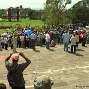 Teachers Peaceful Demonstration in Belize's Capital City