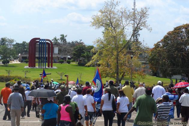 Belizeans Unite For Land Reform Demonstration