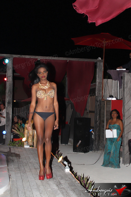 Miss Tourism Belize Contestants in Island Fashion Show