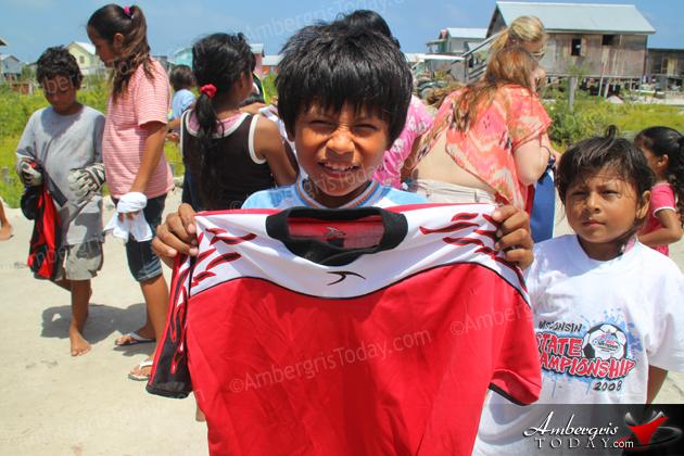 Mayer Family Donates Soccer Equipment to San Pedro Children